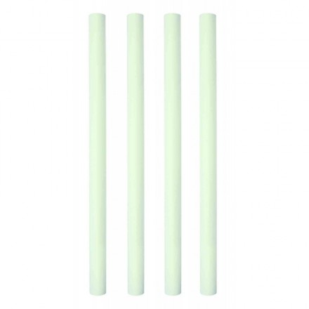 12.5 Inch Plastic Hollow Dowel Rods White - Pack of 4