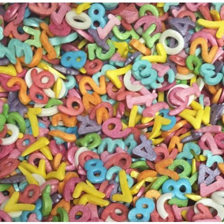 Sugar Number Sprinkles