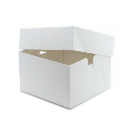 White Wedding Cake Boxes Standard Depth