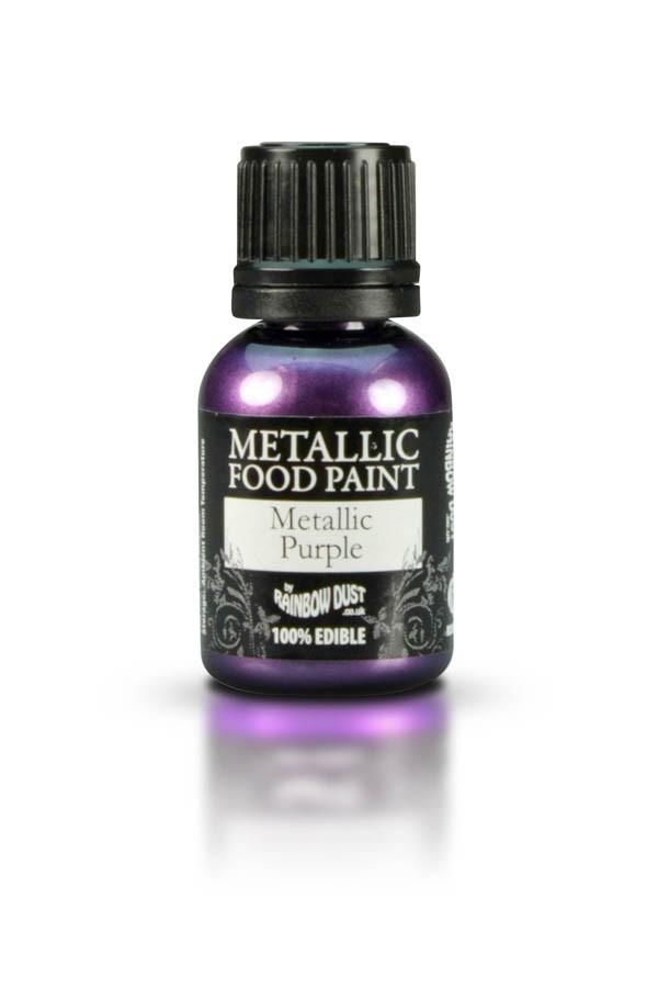 Black Metallic Edible Paint