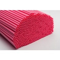 Pink Poly Dowel Plastic - 12 Inch