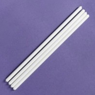 White or Clear Plastic Dowels