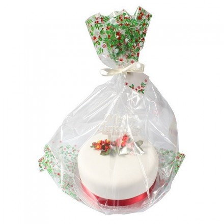 Christmas Cake Gift Bags - Pack of 5