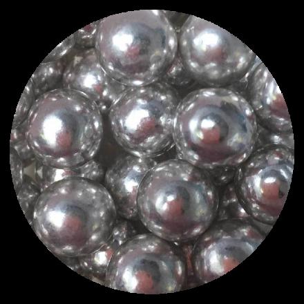 Metallic Silver Chocoballs - Extra Large 80g