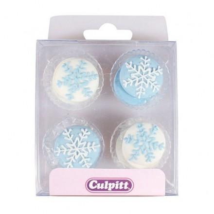 Snowflake Sugar Pipings - Box of 12
