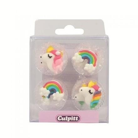 Unicorn & Rainbow Sugar Decorations