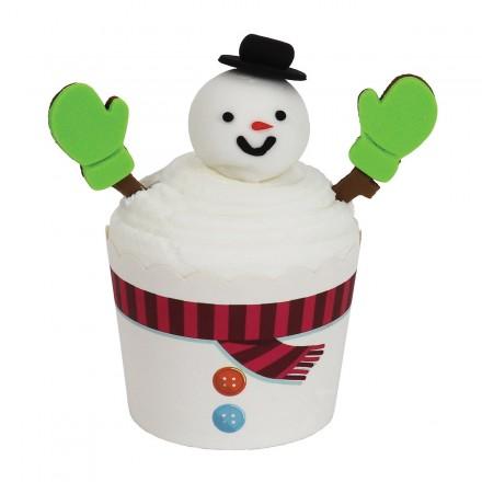 Cupcake Kit - Snowman