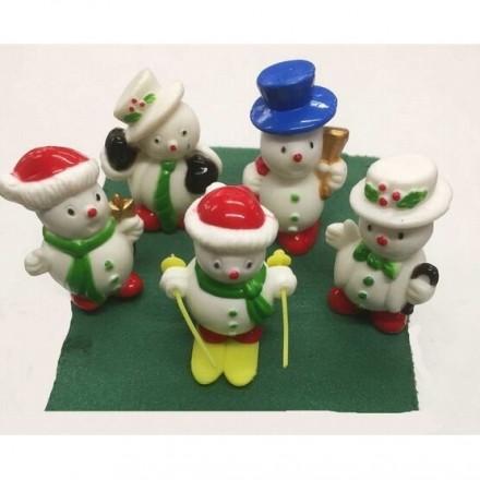 Fun Snowmen Picks - pack of 5