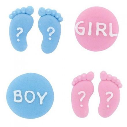 Gender Reveal Sugar Decorations