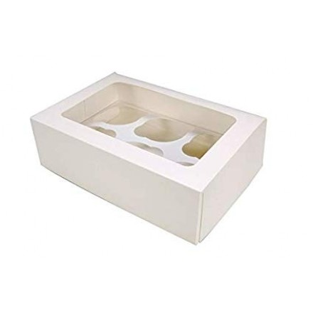 *PACK OF 25* 6 Hole Cupcake Boxes