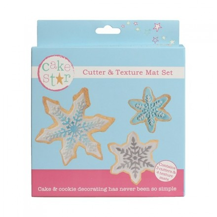 Snowflake Cutters and Texture Mat set