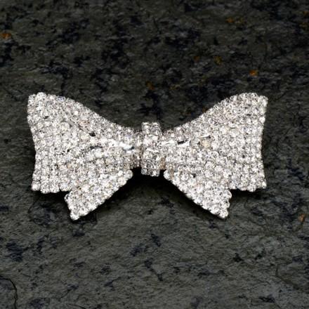Diamante Bow Brooch