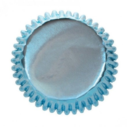 Baby Blue Foil Cupcake Cases pack of 50