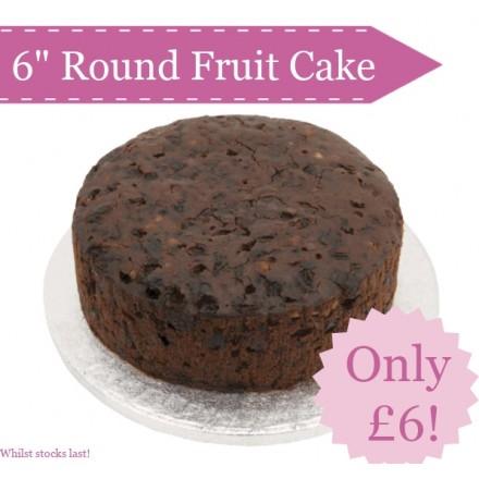 Round Fruit Cake 6 Inch