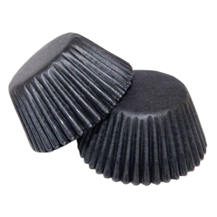 Black Cupcake Cases ROLL OF 180
