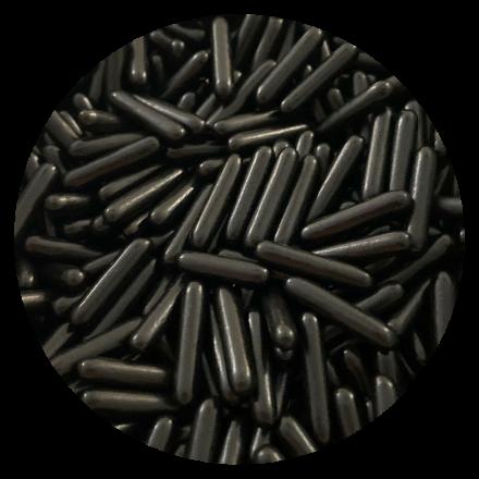Polished Black Rod Sprinkles 100g