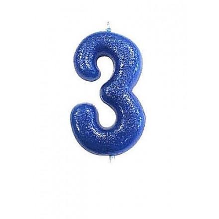 Blue Glitter Candles