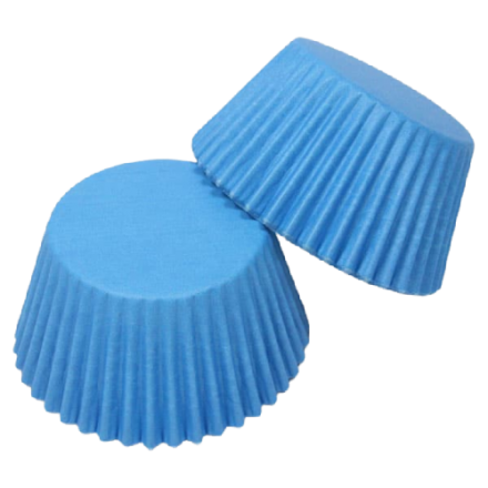 Bright Blue Cupcake Cases ROLL OF 180