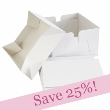 BULK PACK White Wedding Cake Boxes