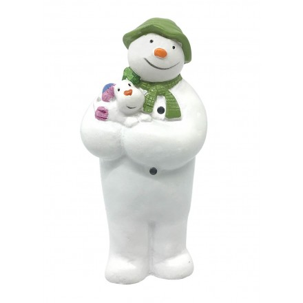 The Snowman holding Snow Dog Topper