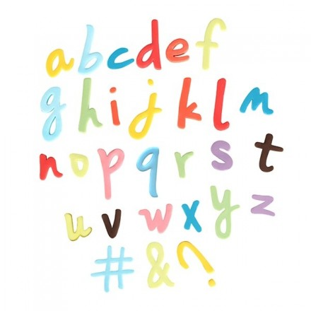Lowercase Script Alphabet and Symbol Plunger Cutters