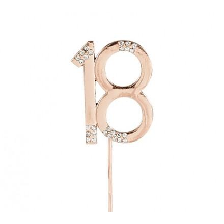Rose Gold Diamante Numbers
