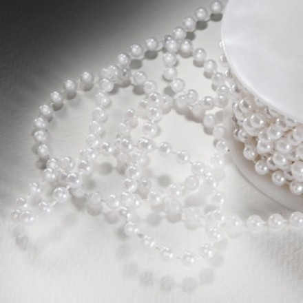 Small White Pearls - 10 Metre Roll