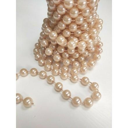 Large Rose Quartz Pearls - 5 Metre Roll