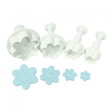 Cherry Blossom Plunger Cutters (set of 4)