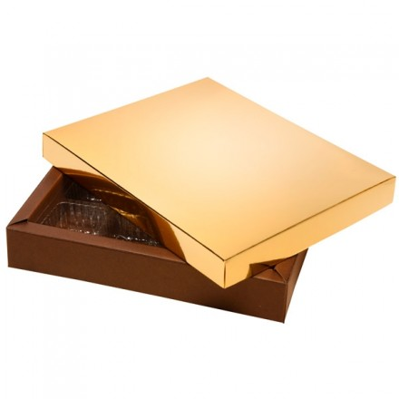 Chocolate Box Gold and Brown