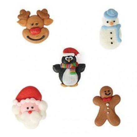 Christmas Friends Sugar Pipings BULK BOX OF 200