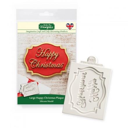Happy Christmas Plaque Mould