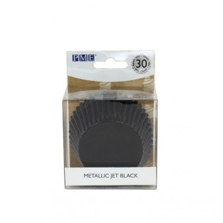 Metallic Jet Black Cupcake Cases (pack of 30)