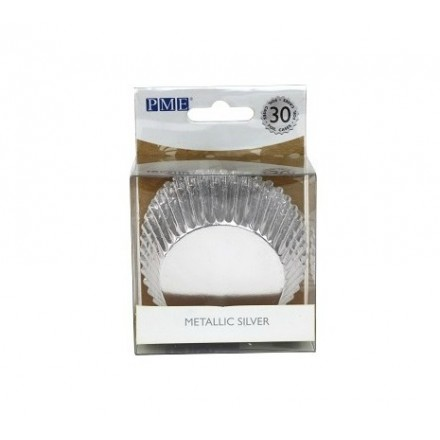 Silver Standard Cupcake Cases (pack of 30)