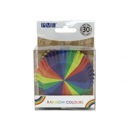 Rainbow Colours Cupcake Cases (pack of 30)