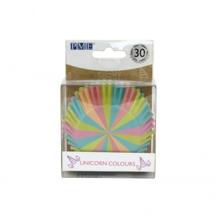 Unicorn Colours Cupcake Cases (pack of 30)