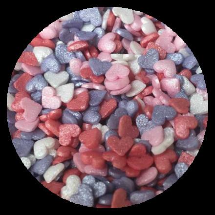 Mini Glimmer Hearts Dream Sprinkles 100g