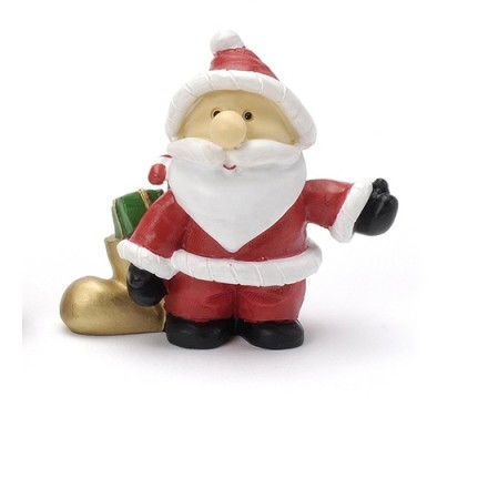Cute Santa with Sack Topper