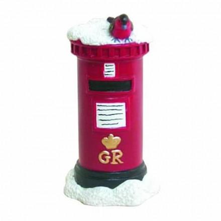 Snowy Post Box and Robin
