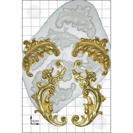 Feather Scrolls Mould