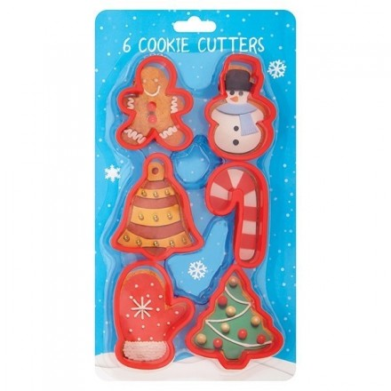 Festive Cookie Cutter (Set of 6)