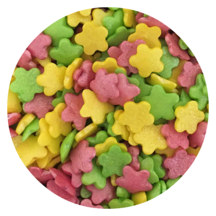 Glimmer Flowers (Pink, Yellow & Green) 100g
