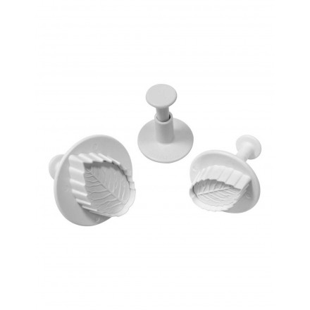 Veined Foliage Plunger Cutters (Set of 3)