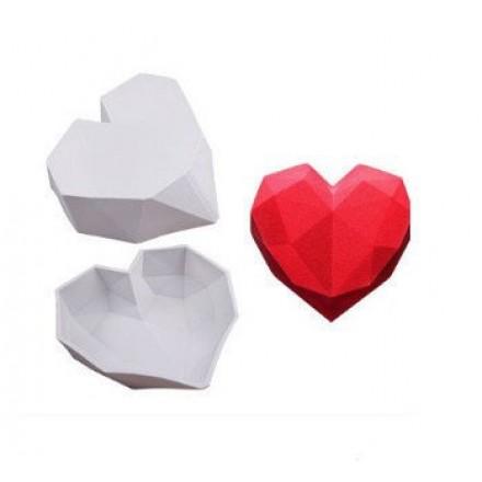 Large Geometric Heart Mould
