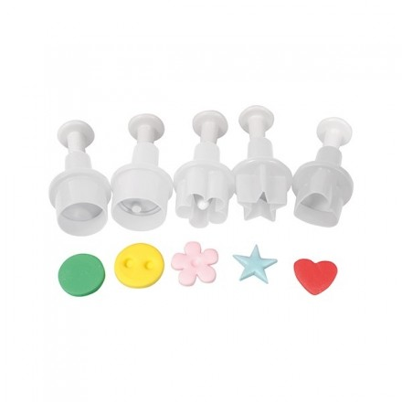 Geometric Shapes Plunger Cutter (set of 5)