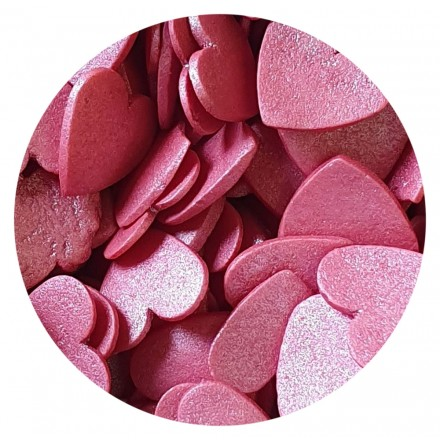 Glimmer Hearts Red Large 100g