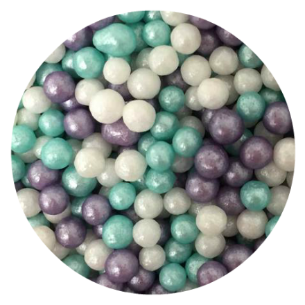 Ice Blue Glimmer Micropearls 100g