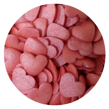 Glimmer Hearts Red Small 100g