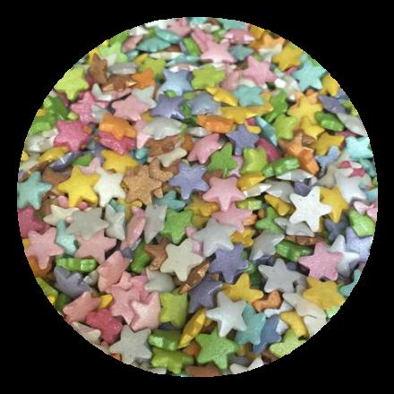 Multicolour Glimmer Stars 100g