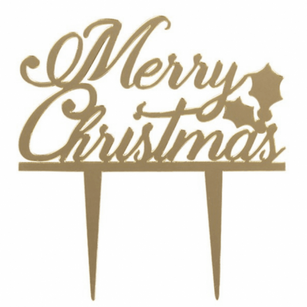 Gold Merry Christmas Topper